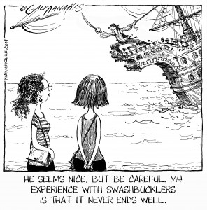 Perils of dating a pirate