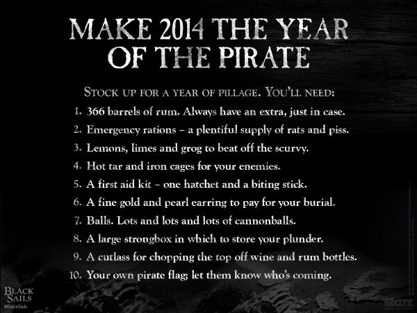 Welcom to the year of the pirate
