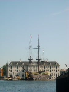 Exterior of the National Maritime Museum (Het Scheepvartmuseum).