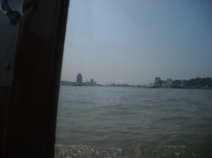 The view from the Rotterdam water taxi.